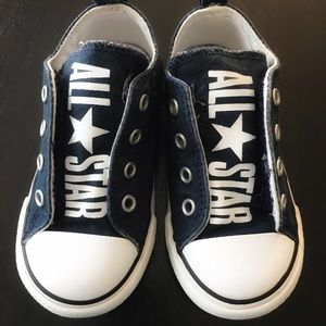 Converse Chuck Taylor Navy All Star Slipon Low Top